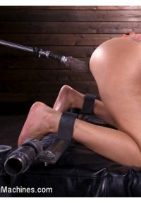 Bodacious Curvy Babe is Bound and Fucked with Machines